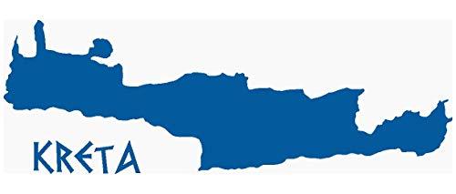 Samunshi® Wandtattoo Insel Kreta Wandaufkleber in 7 Größen und 19 Farben (120x40cm Enzian