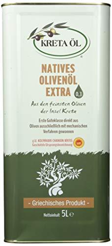 Kreta Öl Extra Natives Olivenöl 0, 3%, 5 l