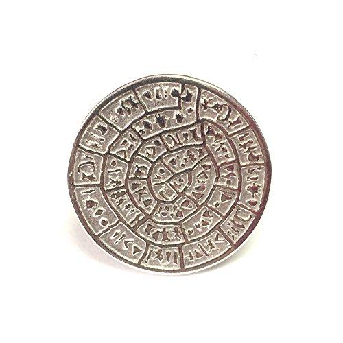Griechischer Phaistos Ring Sterling-Silber 925 rhodiniert