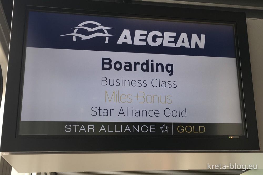 Aegean Airlines - Das Boarding beginnt...