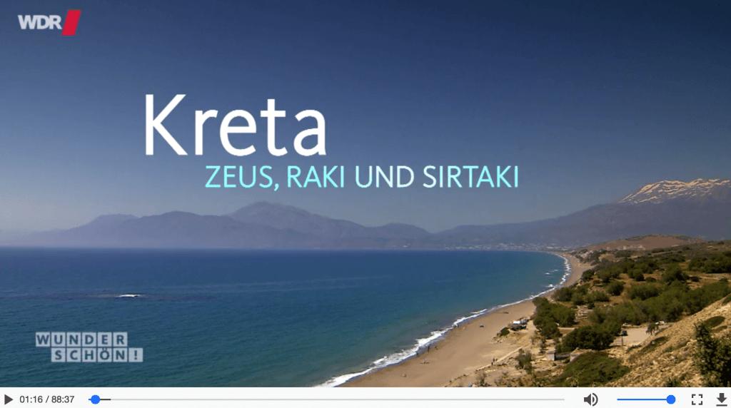 Screenshot WDR Wunderschön Kreta