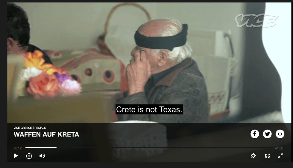 Screenshot VICE Waffen auf Kreta