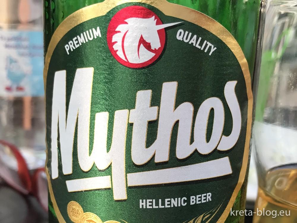 Mythos-Bier, zumindest im Urlaub gern getrunken...
