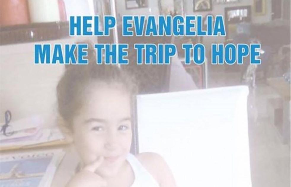 Spendensammlung für Evangelia