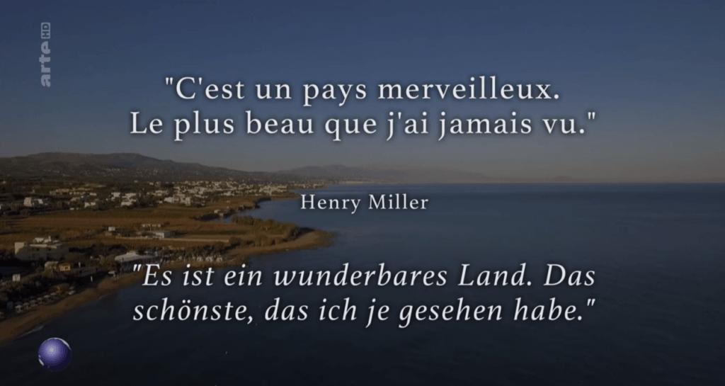Screenshot arte - Stadt, Land, Kunst - Kreta zu Zeiten Henry Millers