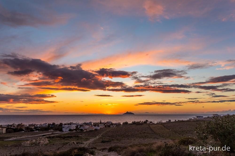Winterurlaub in Kalamaki, Kreta - Fantastische Sonnenuntergänge inklusive