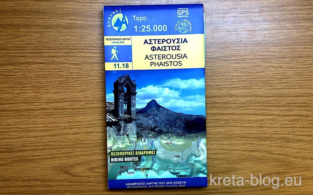 Anavasi-Kartenblatt 11.18: Asterousia - Phaistos
