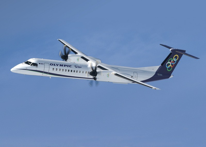 Q400 der Olympic Air (Bild mit freundlicher Genehmigung von Olympic Air)